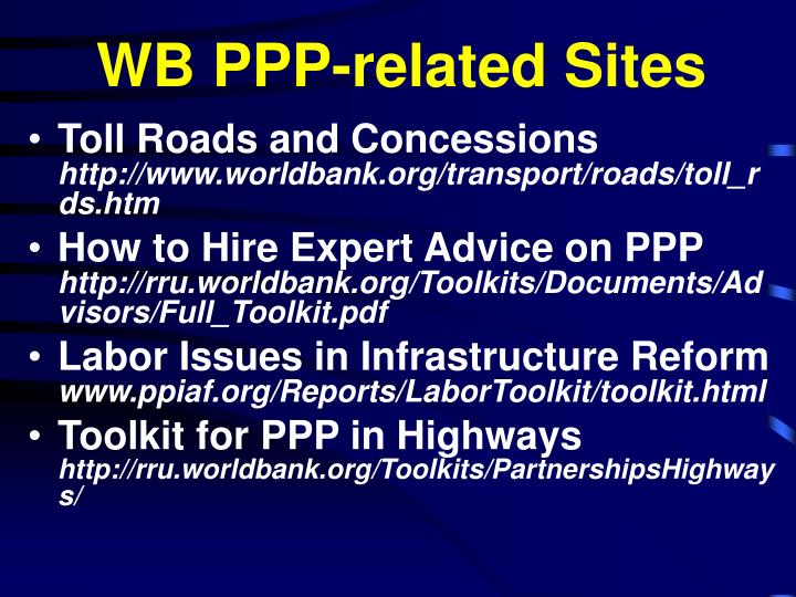 WB PPP-related Sites