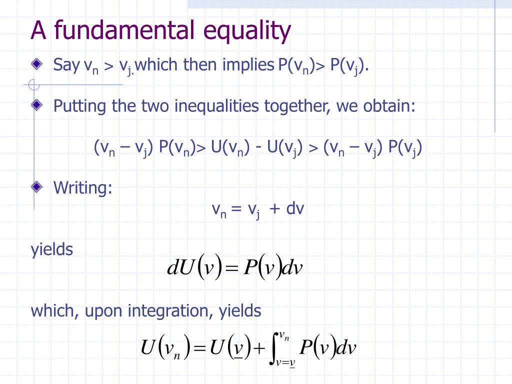 A fundamental equality