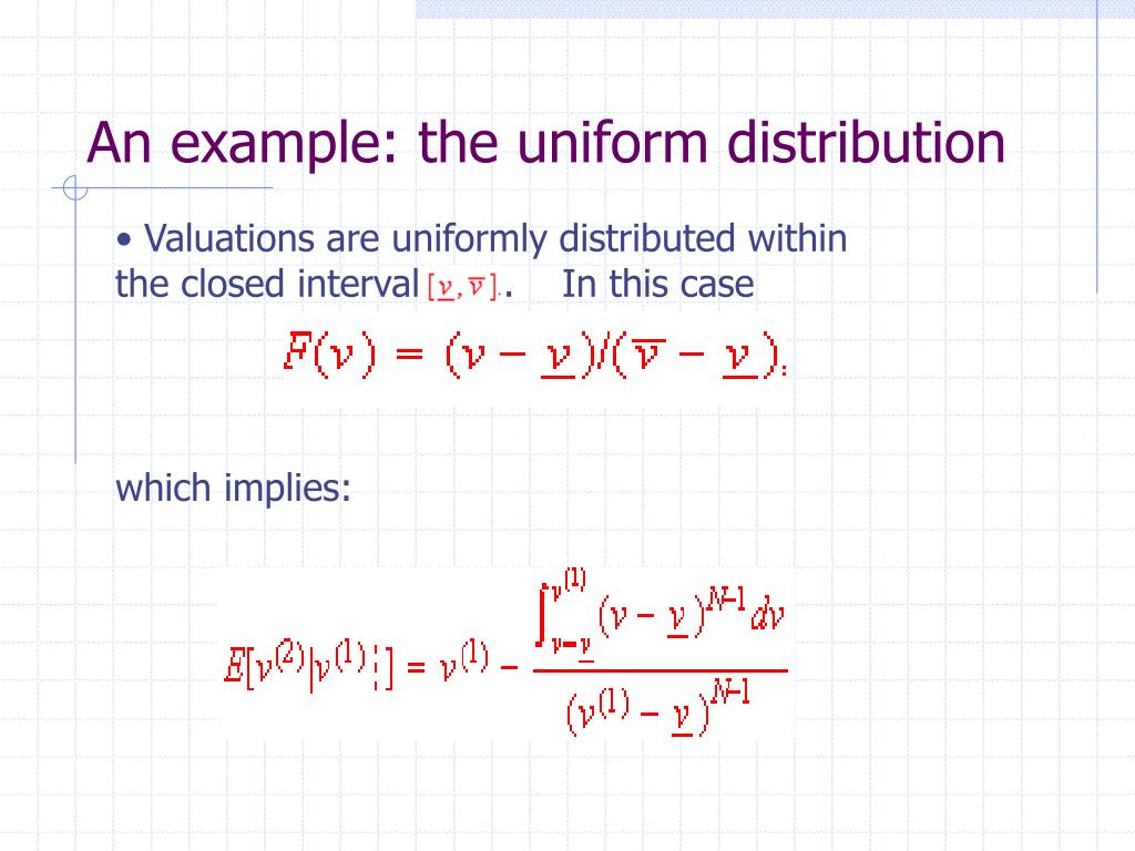 An example: the uniform distribution