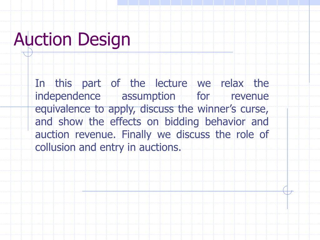Auction Design