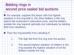 bidding rings in second price sealed bid auctions