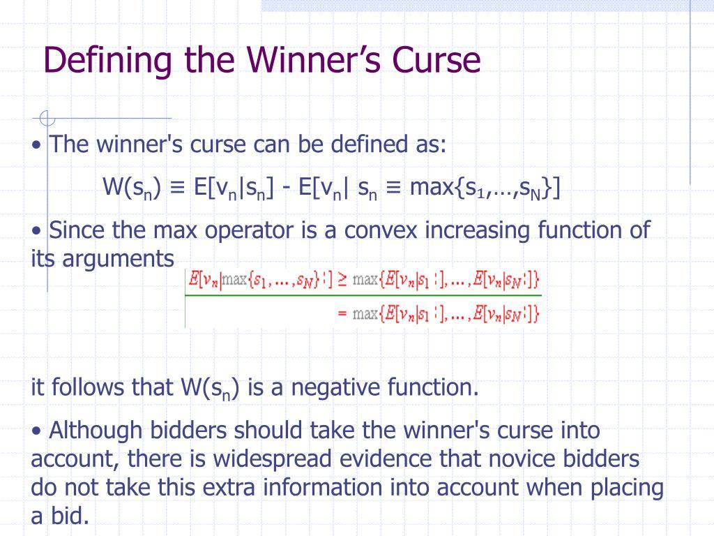 Defining the Winner's Curse