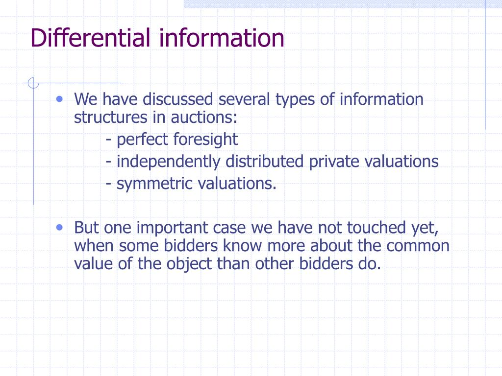 Differential information