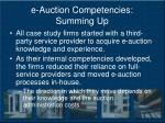 e auction competencies summing up