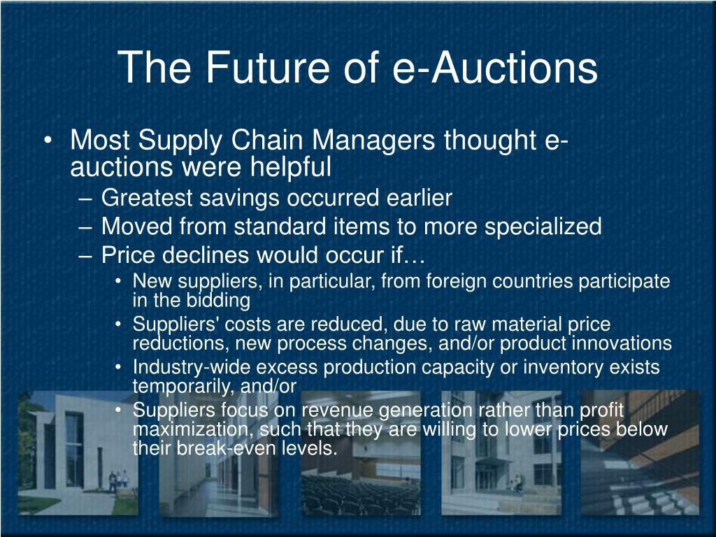 The Future of e-Auctions