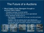 the future of e auctions