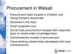procurement in walsall
