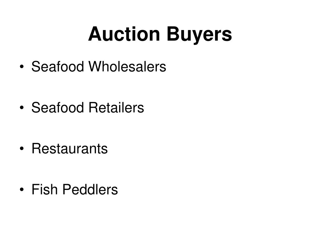 Auction Buyers