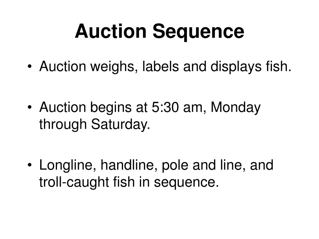 Auction Sequence