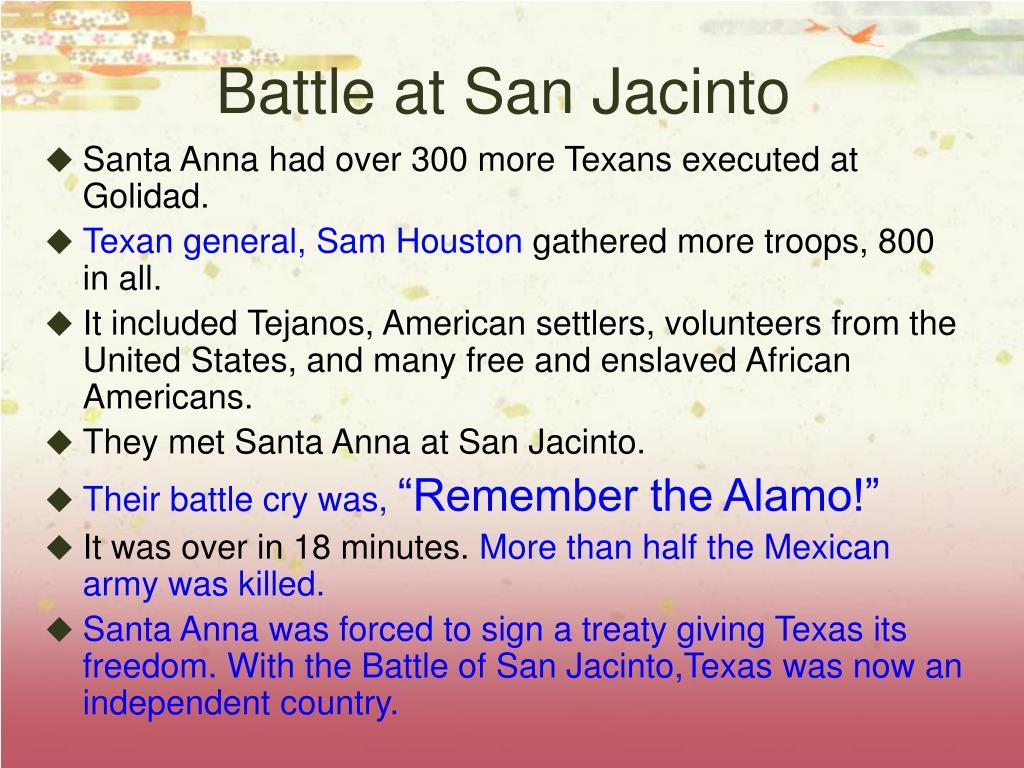 Battle at San Jacinto