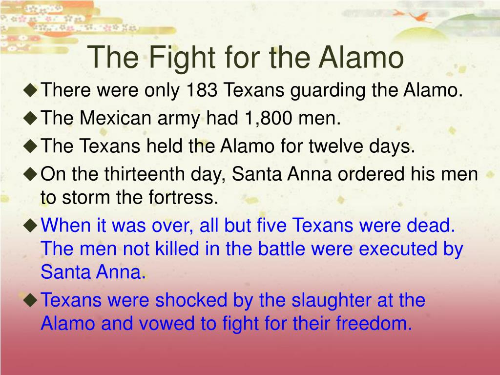 The Fight for the Alamo