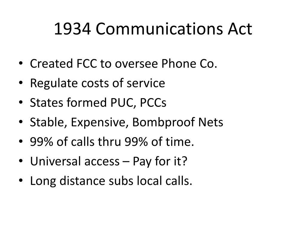 1934 Communications Act