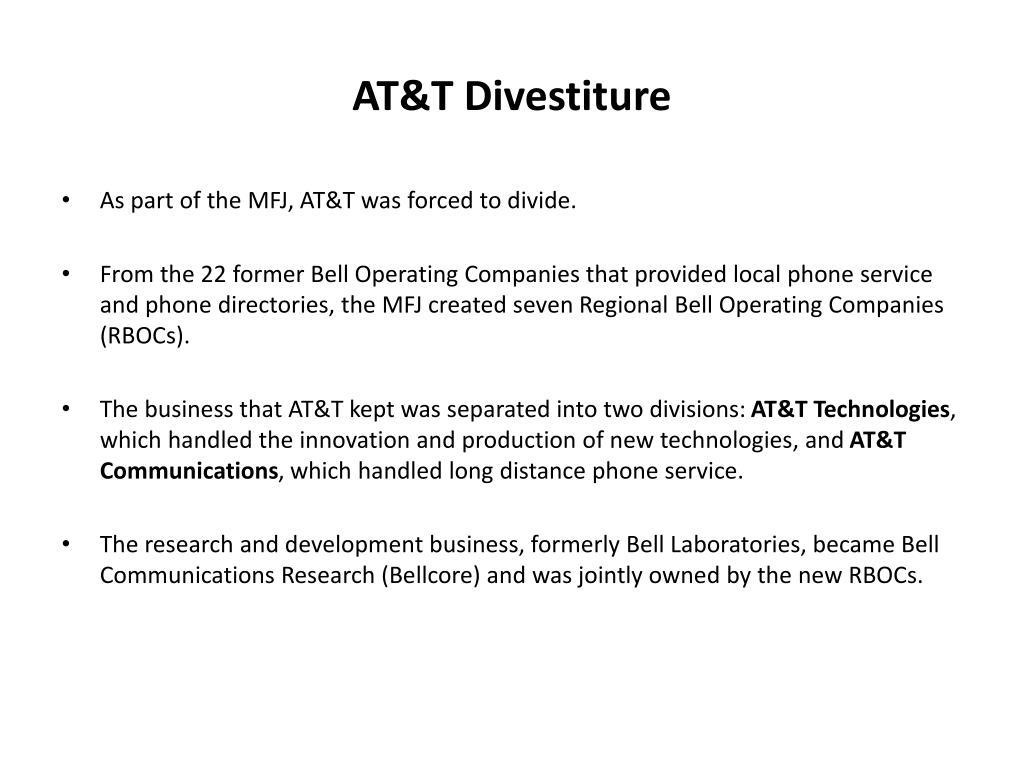 AT&T Divestiture