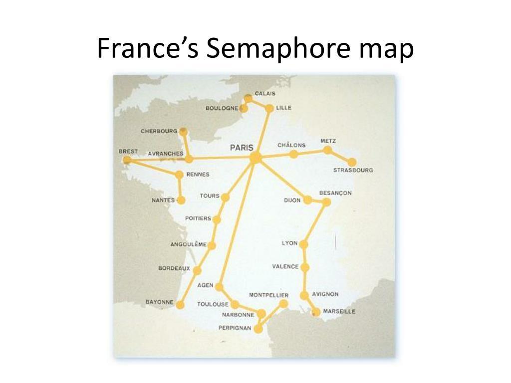 France's Semaphore map