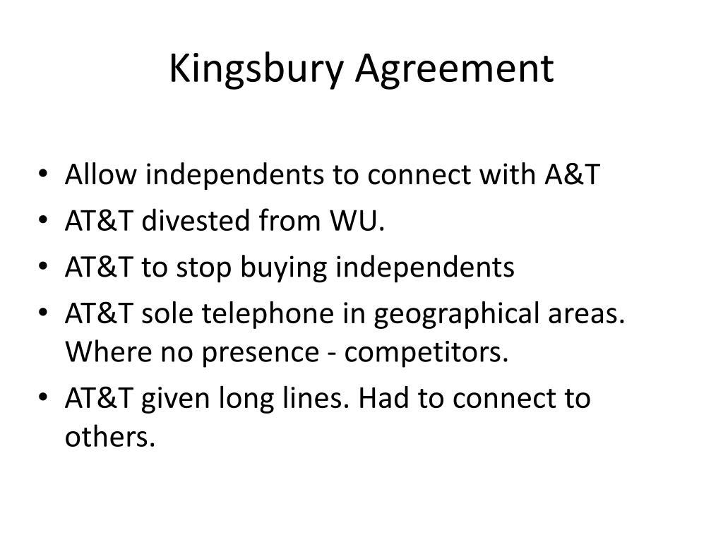 Kingsbury Agreement