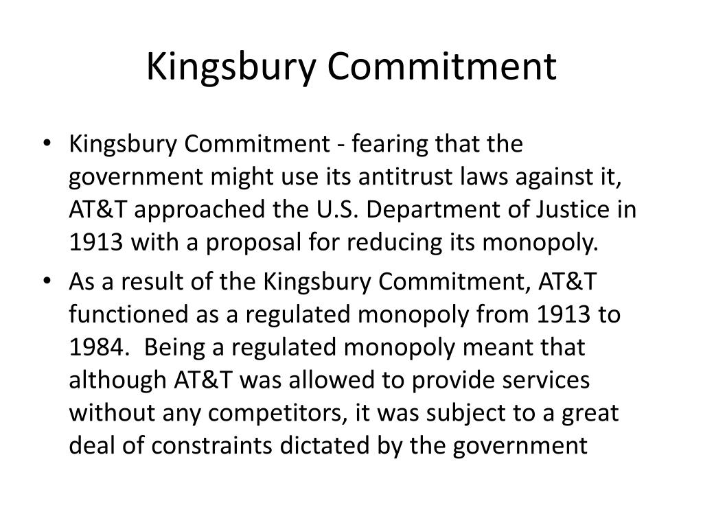 Kingsbury Commitment