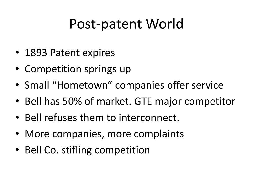 Post-patent World