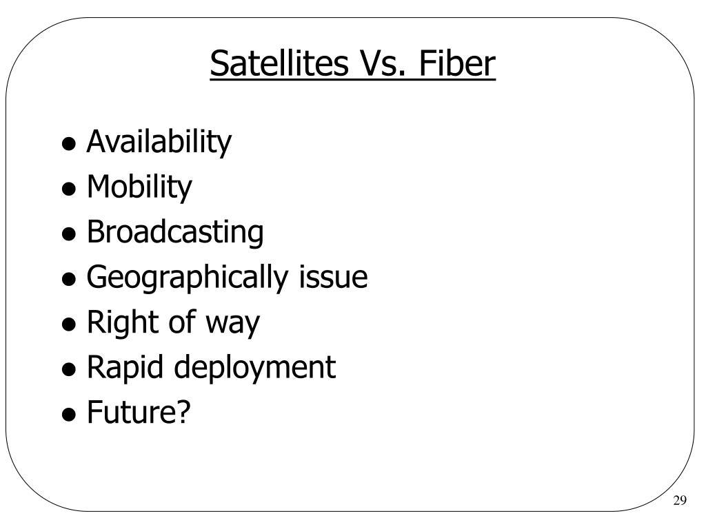 Satellites Vs. Fiber