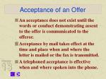 acceptance of an offer7