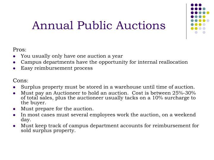 Annual Public Auctions