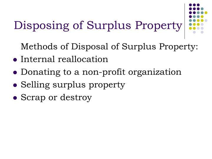 Disposing of Surplus Property