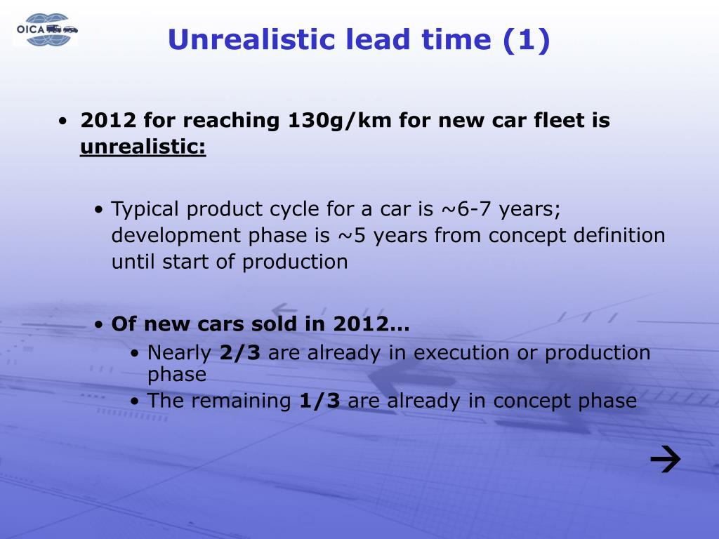 Unrealistic lead time (1)