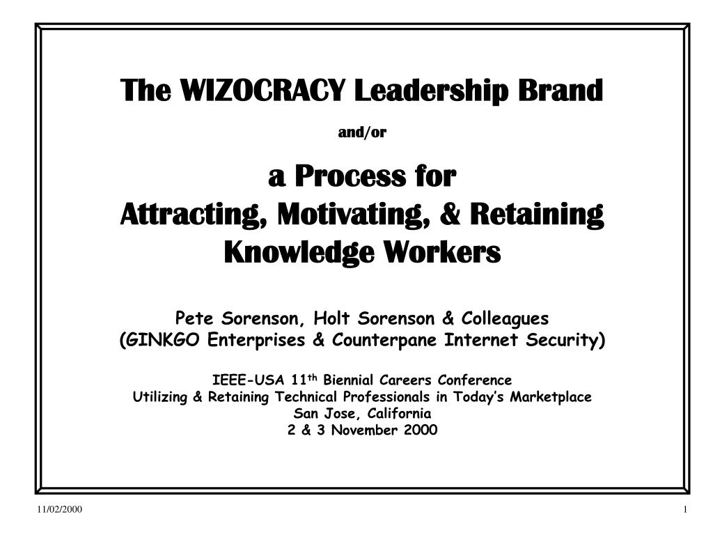 The WIZOCRACY Leadership Brand