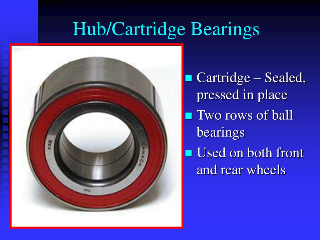 Hub/Cartridge Bearings