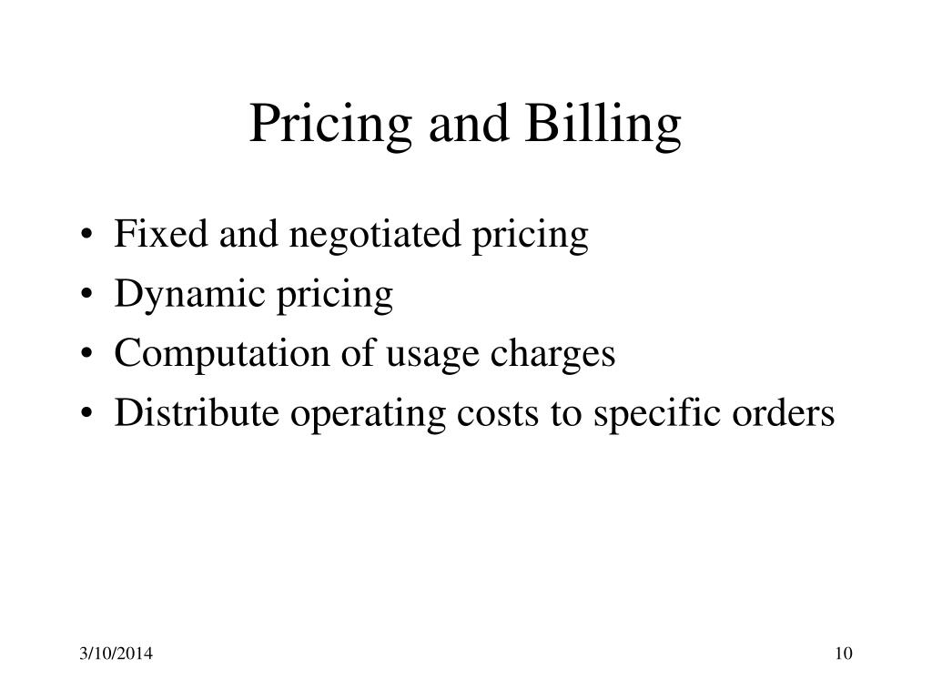 Pricing and Billing
