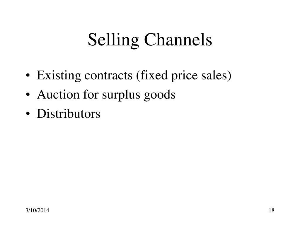 Selling Channels