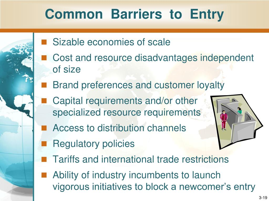 barriers to entry and learning objective Monopolistic competition learning objective monopolistic competition entry to market no barriers to entry or exit exist in monopolistic competition however, the need to make one's product differentiated may require nonprice action.