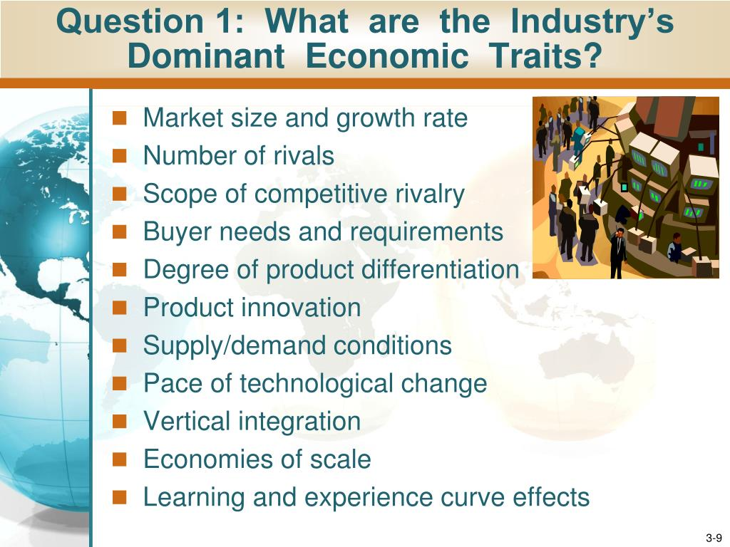 industry s dominant economic features Dominant economic characteristics: introduction: the paper throws light on the dominant economic characteristics in the golf equipment industry in the united st.