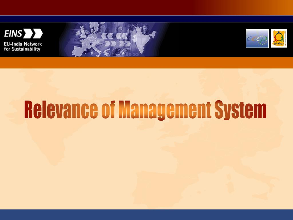 Relevance of Management System