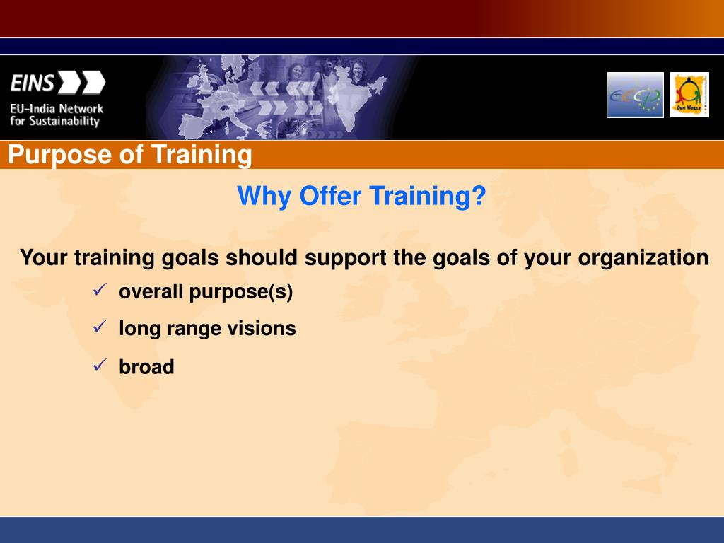 Purpose of Training