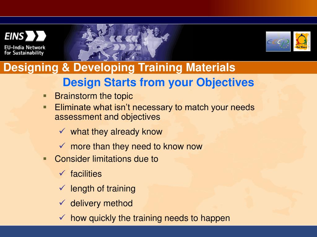 Designing & Developing Training Materials