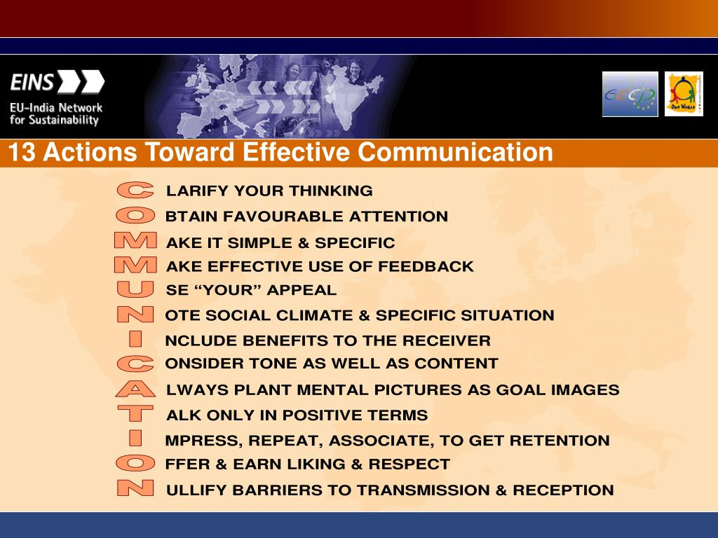 13 Actions Toward Effective Communication
