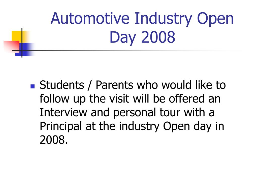 Automotive Industry Open Day 2008