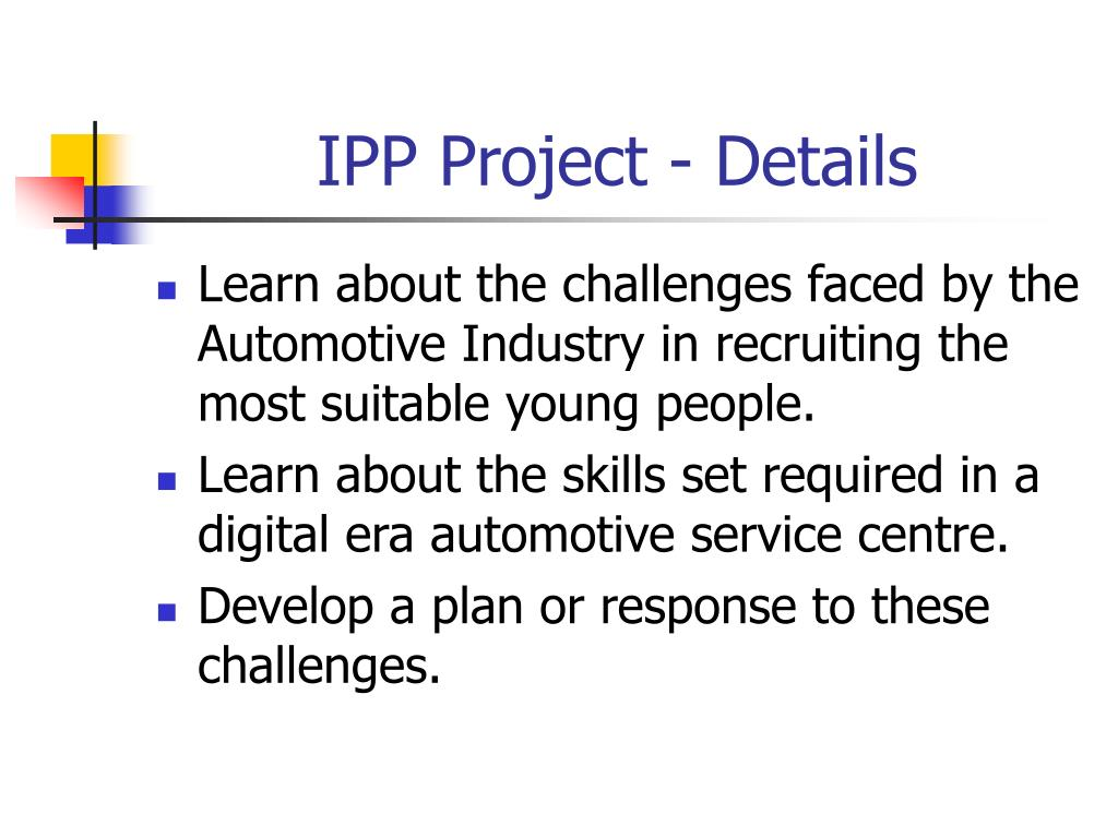 IPP Project - Details