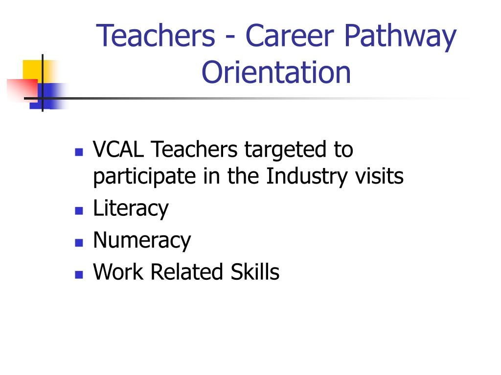 Teachers - Career Pathway Orientation