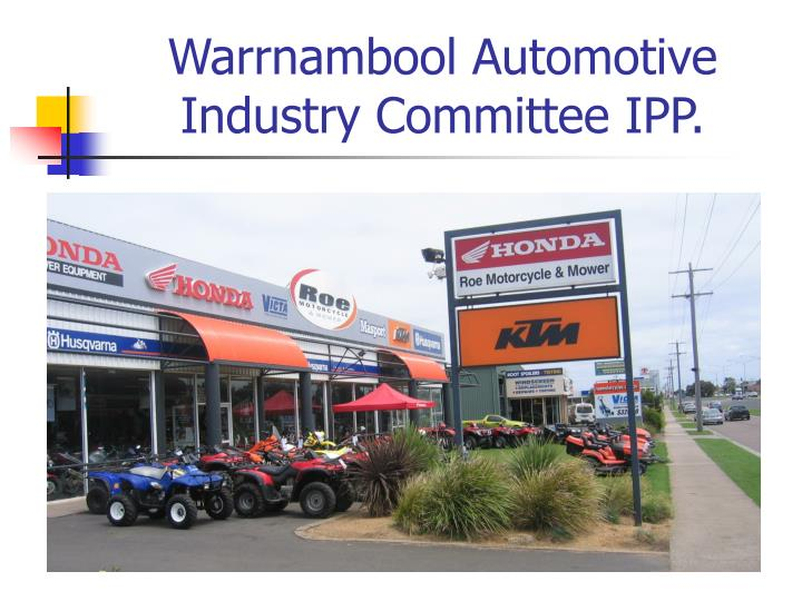 Warrnambool automotive industry committee ipp2