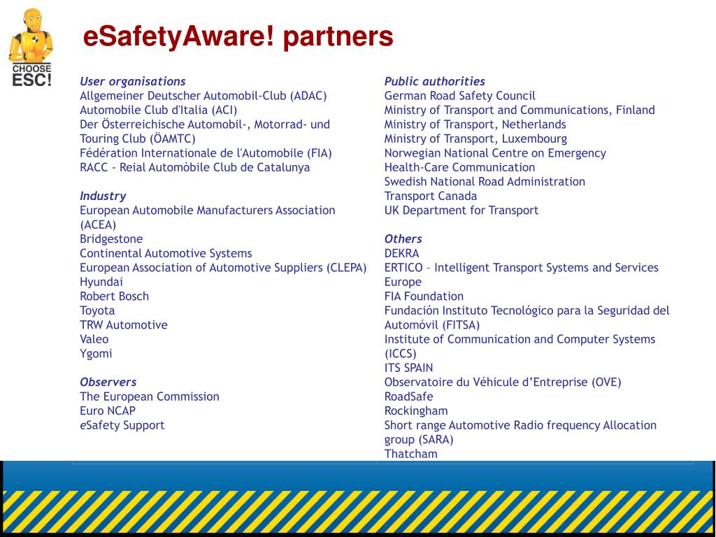 eSafetyAware! partners