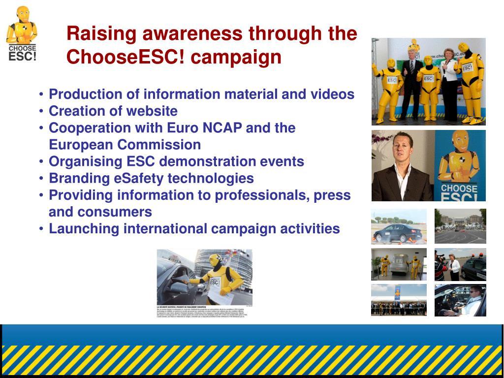 Raising awareness through the ChooseESC! campaign