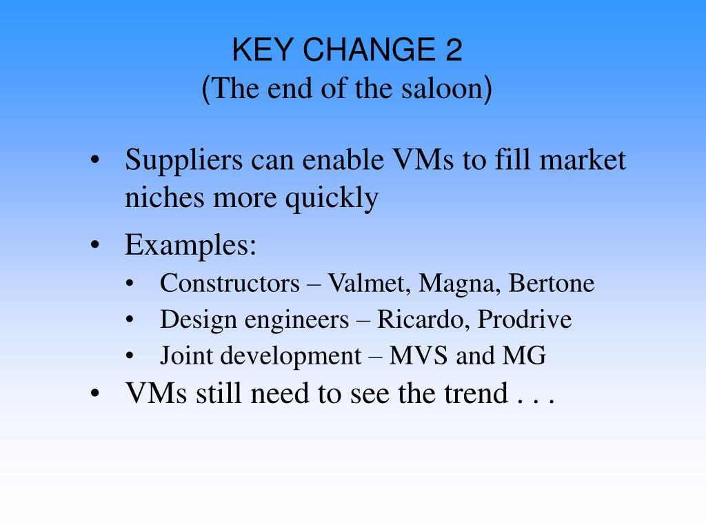 KEY CHANGE 2