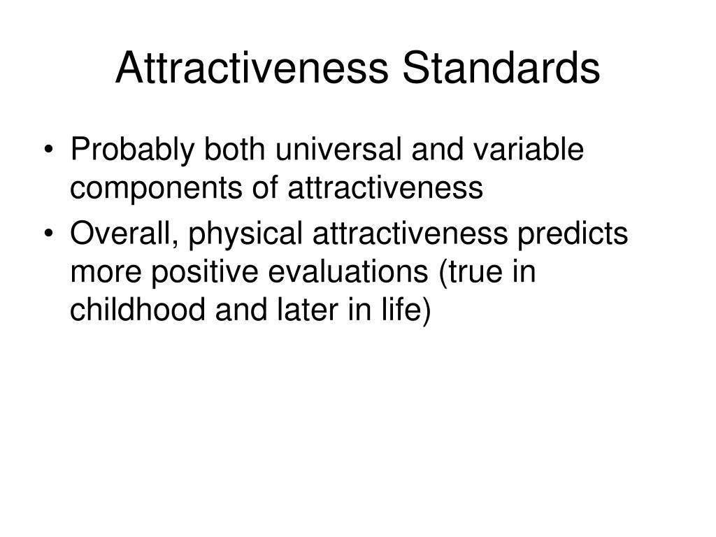 Attractiveness Standards