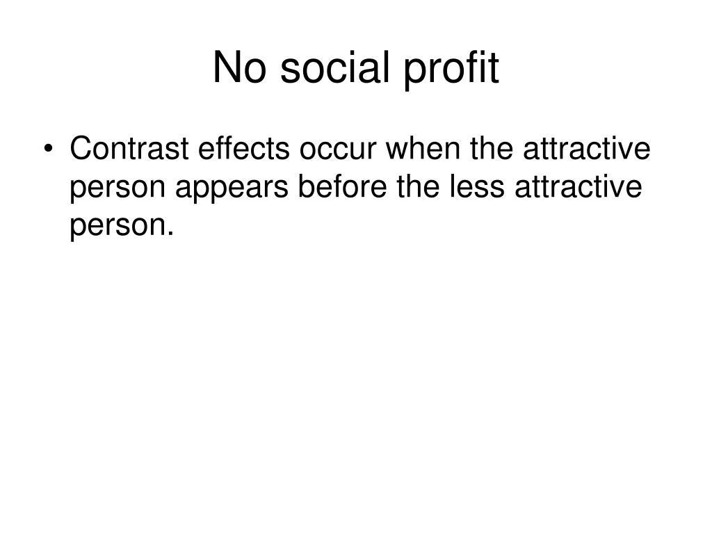 No social profit