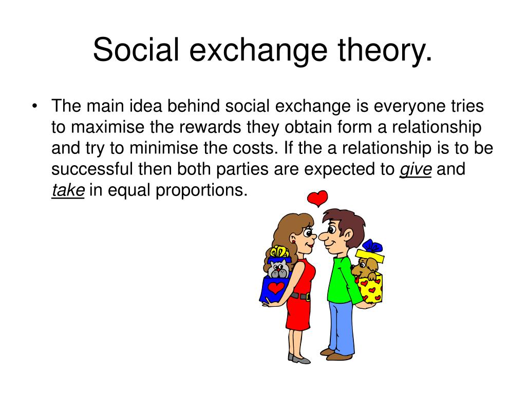 social exchange theory and ethics Theories of social work  the ideal theory for social work would therefore be one  development spiritual growth experiences social exchange how.
