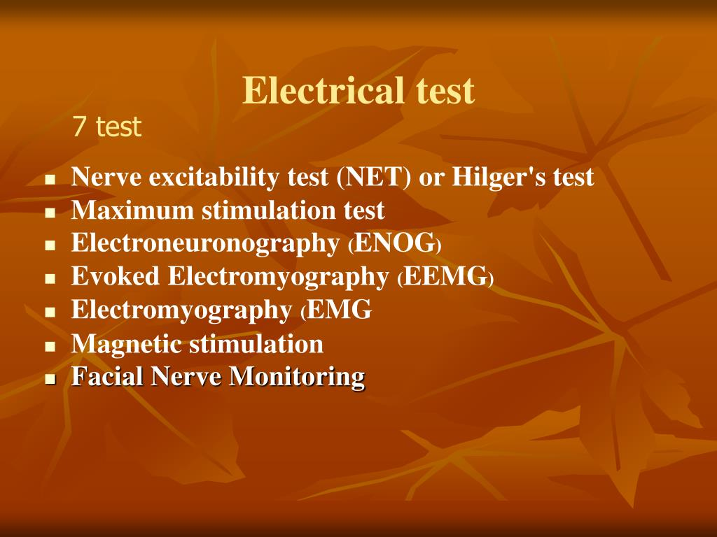 Electrical test