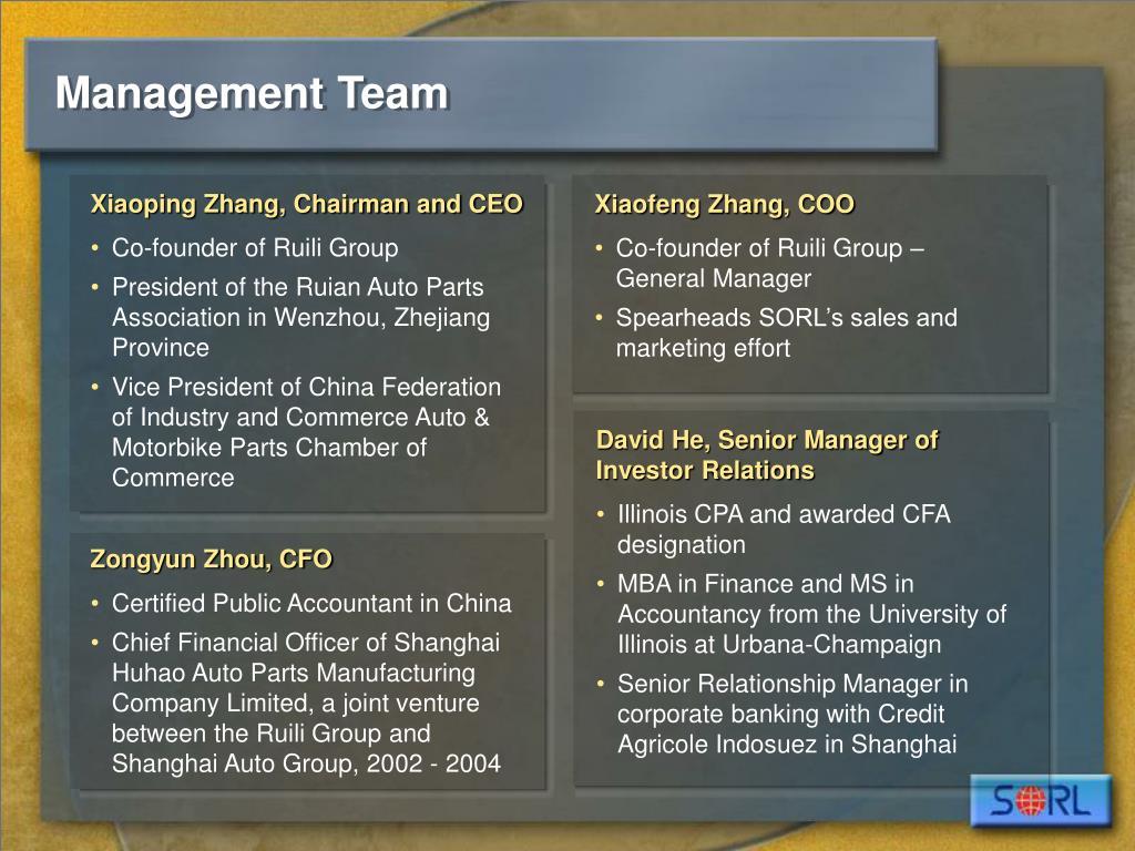 Xiaoping Zhang, Chairman and CEO