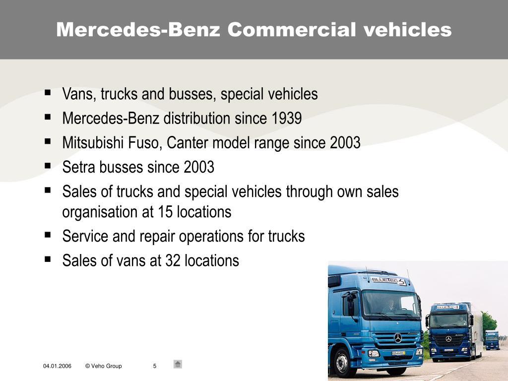Mercedes-Benz Commercial vehicles