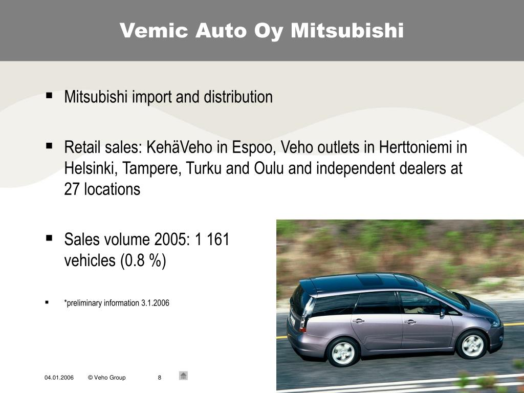 Vemic Auto Oy Mitsubishi